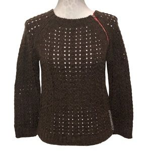 Free People Fitted Zippered Sweater